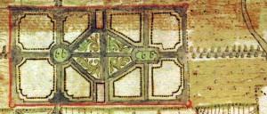 1751 Herrengarten im Stadtplan